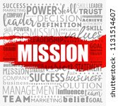 mission word cloud collage ... | Shutterstock .eps vector #1131514607