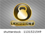 gold badge or emblem with... | Shutterstock .eps vector #1131521549