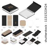 rigid magnet box template 3d... | Shutterstock .eps vector #1131523424