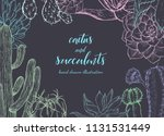 floral background. hand drawn...   Shutterstock .eps vector #1131531449