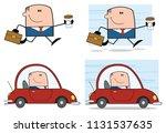 businessman cartoon character... | Shutterstock . vector #1131537635
