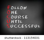 conceptual focus acronym... | Shutterstock . vector #113154031