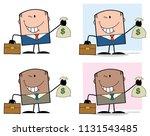 businessman cartoon character... | Shutterstock . vector #1131543485
