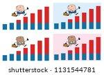 businessman cartoon character... | Shutterstock . vector #1131544781