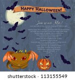 invitation halloween poster... | Shutterstock .eps vector #113155549