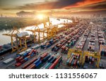 logistics and transportation of ... | Shutterstock . vector #1131556067