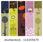set of bookmarks or banners... | Shutterstock .eps vector #113155675