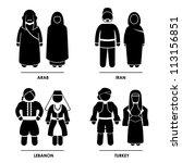 west asia   arab iran lebanon... | Shutterstock .eps vector #113156851