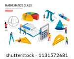 math lab and school class.... | Shutterstock .eps vector #1131572681
