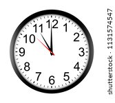 round wall clock mock up  ...   Shutterstock .eps vector #1131574547