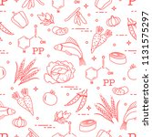 seamless pattern with foods... | Shutterstock .eps vector #1131575297