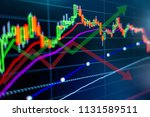 stock market graph analysis for ... | Shutterstock . vector #1131589511