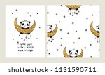 i love you to the moon and back....   Shutterstock .eps vector #1131590711