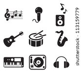 music icons | Shutterstock .eps vector #113159779