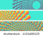 abstract aquatic banners with... | Shutterstock .eps vector #1131600125
