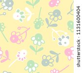 seamless pattern with abstract... | Shutterstock .eps vector #1131600404