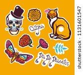 mexican day of the dead. dia de ... | Shutterstock .eps vector #1131601547