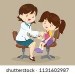 doctor listening to chest of...   Shutterstock .eps vector #1131602987