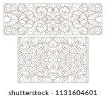 set contour illustrations of... | Shutterstock .eps vector #1131604601