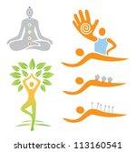 icons yoga massage alternative... | Shutterstock .eps vector #113160541