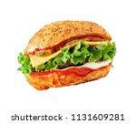 flying fresh tasty burger...   Shutterstock . vector #1131609281