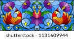 illustration in stained glass... | Shutterstock .eps vector #1131609944