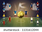 soccer players versus each... | Shutterstock .eps vector #1131612044