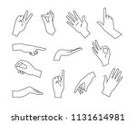 hand collection   vector line... | Shutterstock .eps vector #1131614981