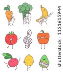 artistic fruits and vegetables... | Shutterstock .eps vector #1131615944