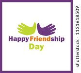 happy friendship day    Shutterstock .eps vector #1131618509