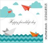 happy friendship day    Shutterstock .eps vector #1131618515