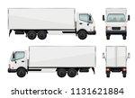 realistic truck. vector... | Shutterstock .eps vector #1131621884