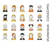 set of various avatars for web... | Shutterstock .eps vector #1131621941