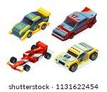 3d racing cars. isometric sport ... | Shutterstock .eps vector #1131622454