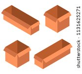 a set of boxes. isometry. view...   Shutterstock .eps vector #1131625271