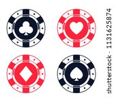 set. casino. chips and suit....   Shutterstock .eps vector #1131625874