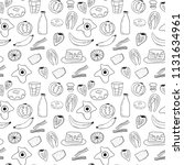 hand drawn black and white... | Shutterstock .eps vector #1131634961