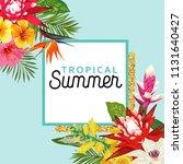summertime floral poster.... | Shutterstock .eps vector #1131640427