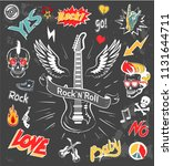 rock n roll forever icons set.... | Shutterstock .eps vector #1131644711