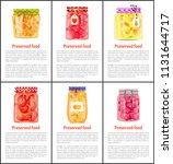 preserved fruit and vegetables...   Shutterstock .eps vector #1131644717