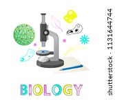 biology subject studies poster... | Shutterstock .eps vector #1131644744