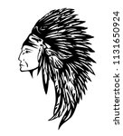 north american indian chief... | Shutterstock .eps vector #1131650924