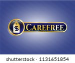 golden badge with money tag... | Shutterstock .eps vector #1131651854