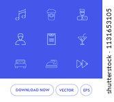 modern  simple vector icon set... | Shutterstock .eps vector #1131653105