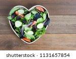 Salad greens mix heart shape...