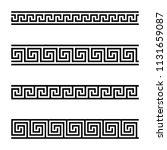seamless meander patterns on...   Shutterstock .eps vector #1131659087