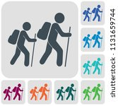 hiking icon illustration... | Shutterstock .eps vector #1131659744