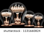 photo of light bulbs with... | Shutterstock . vector #1131660824