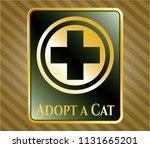 golden badge with medicine... | Shutterstock .eps vector #1131665201