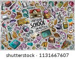 colorful vector hand drawn... | Shutterstock .eps vector #1131667607